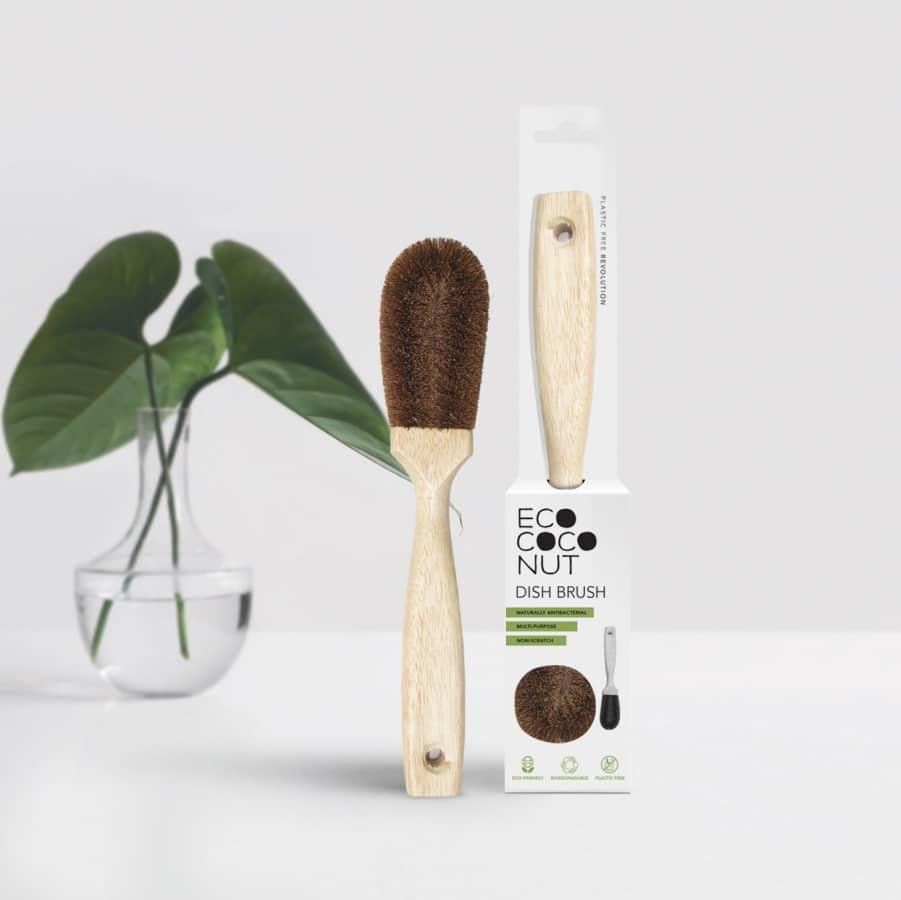 EcoCoconut naravna ščetka za pomivanje posode iz kokosa