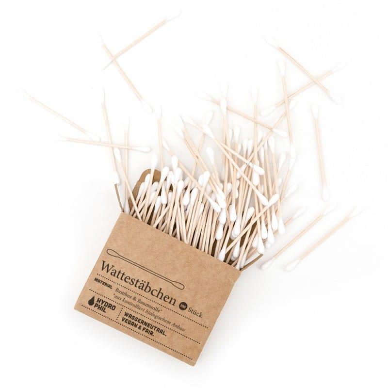 Palčke za ušesa iz bambusa in bombaža Hydrophil